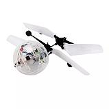 Летающий шар вертолёт светящийся сенсор Flying Ball Air led от руки, летающий диско шар, Детские товары, фото 6