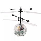 Летающий шар вертолёт светящийся сенсор Flying Ball Air led от руки, летающий диско шар, Детские товары, фото 7