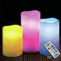 Комлект светодиодных свечей с пультом управления Luma Candles Люма Кендлес, Электронные свечи, фото 1