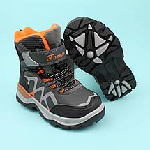 Термо ботинки для мальчика зимние серые тм Том.м размер 30, фото 3