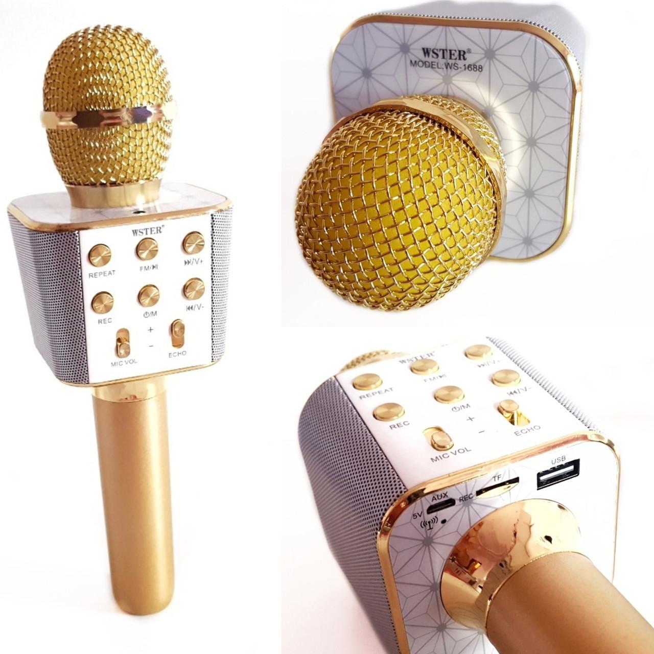 Микрофон-караоке беспроводной WSTER WS-1688