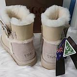 Женские кожаные угги из натуральной овчины, фото 4