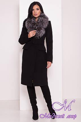 Женское зимнее пальто с мехом (р. S, М, L) арт. Лабио 8150 - 44107, фото 2
