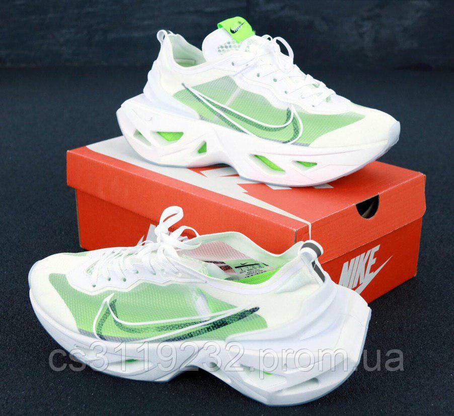 Женские кроссовки Nike Zoom X Vista Grind (зелено-белые)