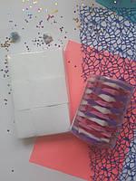 Безворсові серветки для манікюру 400 штук в упаковці кольорові