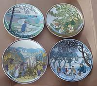 Настенная декоративная тарелка Времена года Германия (серия) Зима Весна Лето Осень