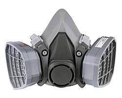 Респиратор с двумя химическими фильтрами (байонетное крепление под фильтр) (аналог 3М 6000)