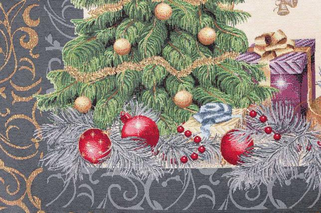 """Скатерть новогодняя гобеленовая """"Новорічний сюрприз"""" 137 х 280 см скатертина новорічна гобеленова, фото 2"""