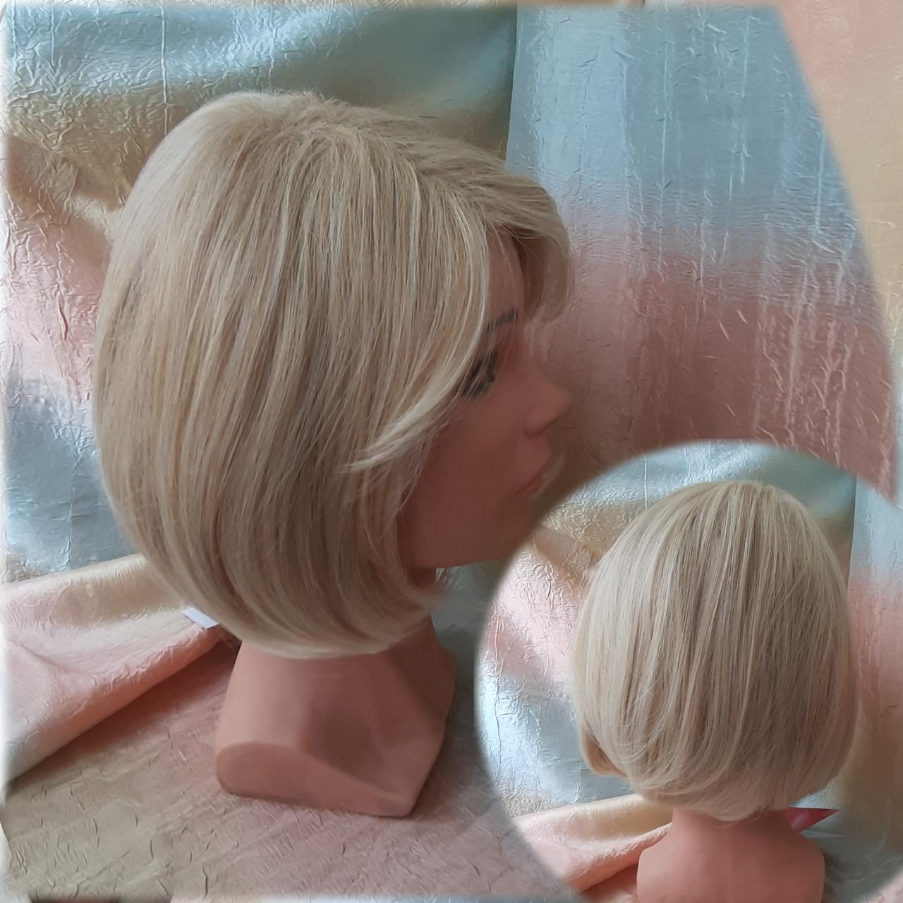 Парик каре из термоволокна жемчужный блонд 2736t- 24ВТ613
