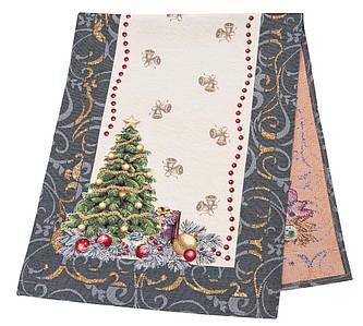Наперон новогодний гобеленовый 37 х 100 см раннер ранер дорожка на стол