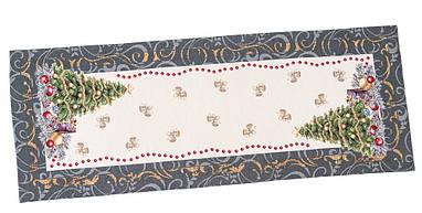 Наперон новогодний гобеленовый 45 х 140 см раннер ранер дорожка на стол