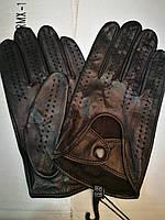 Мужские кожаные перчатки для вождения