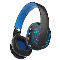 Игровые беспроводные Bluetooth наушники Kotion EACH B3507 со складным корпусом (Черно-синий)