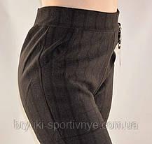 Брюки женские на меху с геометрическим узором  5XL - 7XL Лосины зимние - полубатал, фото 2