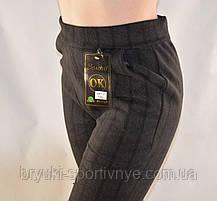 Брюки женские на меху с геометрическим узором  5XL - 7XL Лосины зимние - полубатал, фото 3