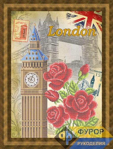 Схема для вышивки бисером картины Лондон (ПБч3-095)