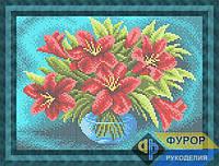 Схема для вышивки бисером картины Букет лилий в вазе (НБп4-166-1)