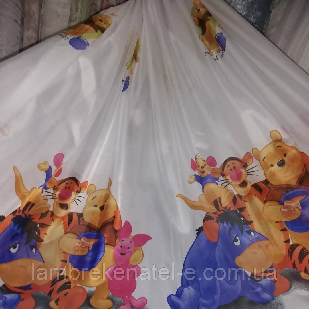 Тюль с детским рисунком