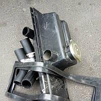 Комплект бачков и прокладок и патрубков на радиатор мтз с хомутами (пластмассовый)