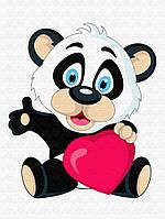 """Картина по номерам """"Маленькая панда"""" для детей в коробке, 30*40 см"""