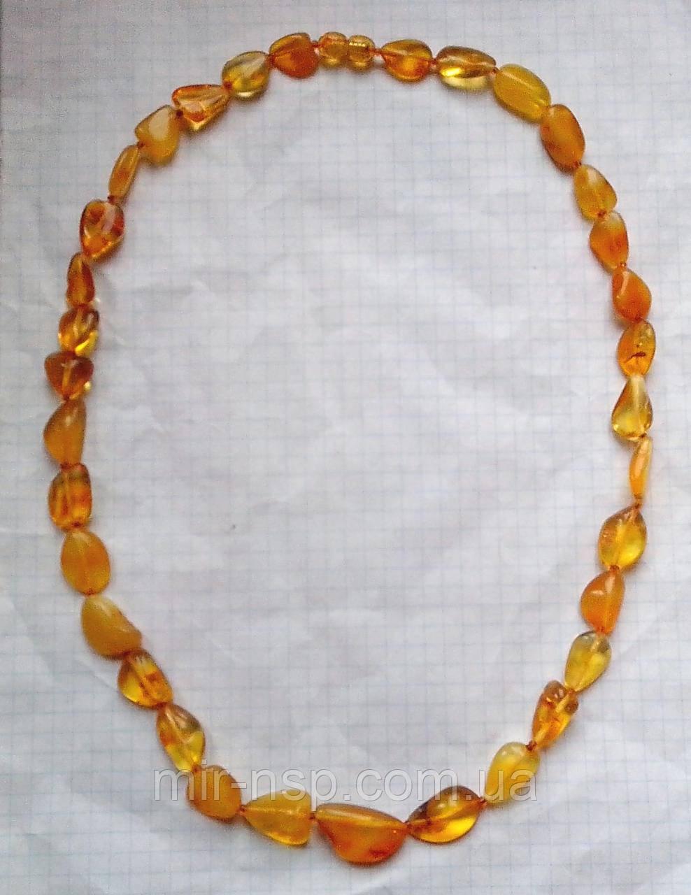 Бусы натуральный цельный природный янтарь галтовка 10-12 мм вес 18г