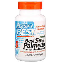 "Экстракт пальмы Сереноа, Doctor's Best ""Best Saw Palmetto Standardized Extract"" 320 мг (180 гелевых капсул)"