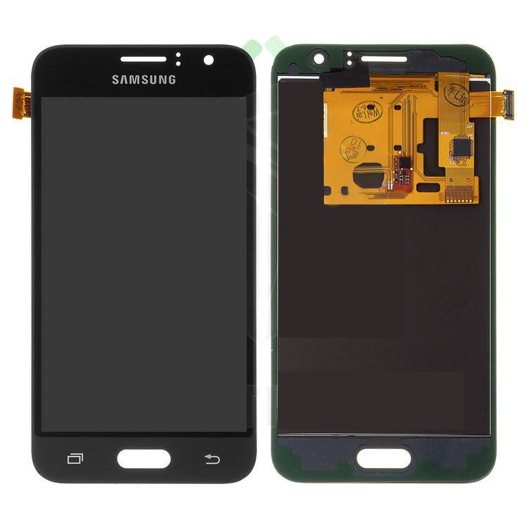 Дисплей Samsung J120H Galaxy J1 (2016), черный, с сенсорным экраном, с регулировкой яркости, (TFT), Сopy
