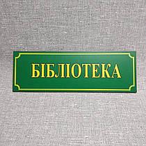 Таблички кабінетні Бібліотека