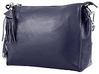 Кожаная сумка для женщин Vito Torelli синяя
