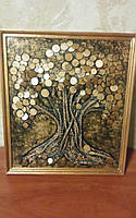 Картина денежное дерево с монетами