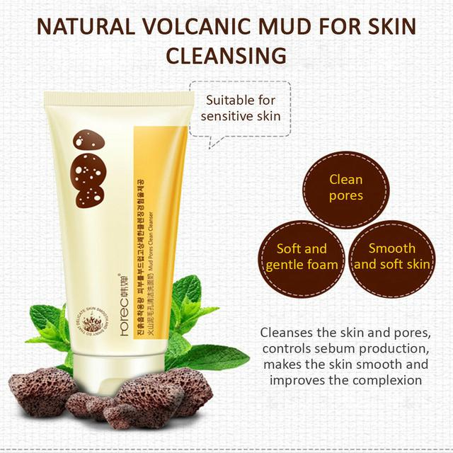 ROREC Volcanic Mud Cleanser Foam