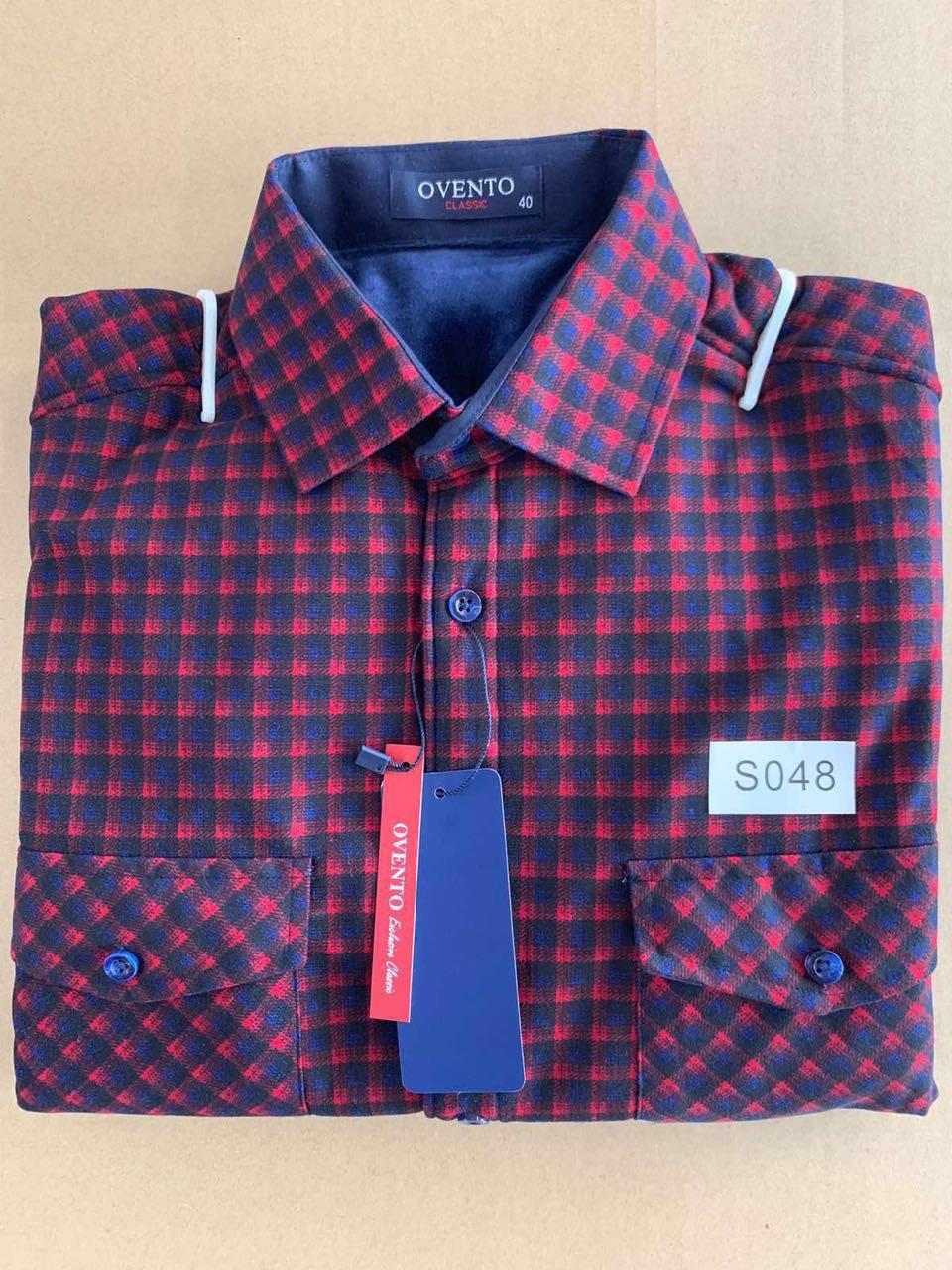 Теплая  рубашка флис Ovento classik  - S048