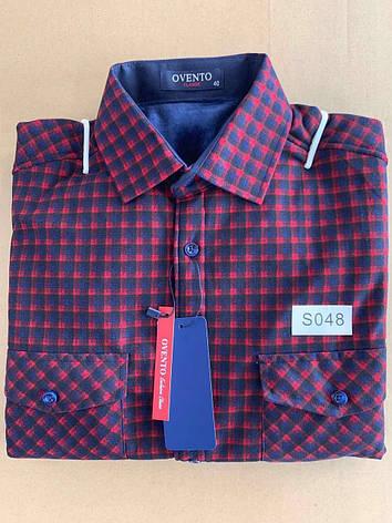 Теплая  рубашка флис Ovento classik  - S048, фото 2