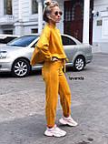 Стильный женский костюм пудра бежевый горчица чёрный, фото 7