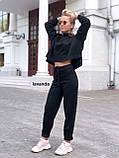 Стильный женский костюм пудра бежевый горчица чёрный, фото 5