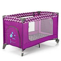 Детский манеж ME 1016 Safe  zigzag пурпурный, фото 1