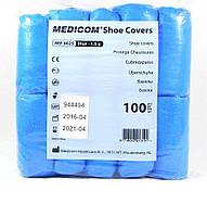 Бахилы полиэтиленовые, плотность 1,5 гр, 50 пар, Medicom