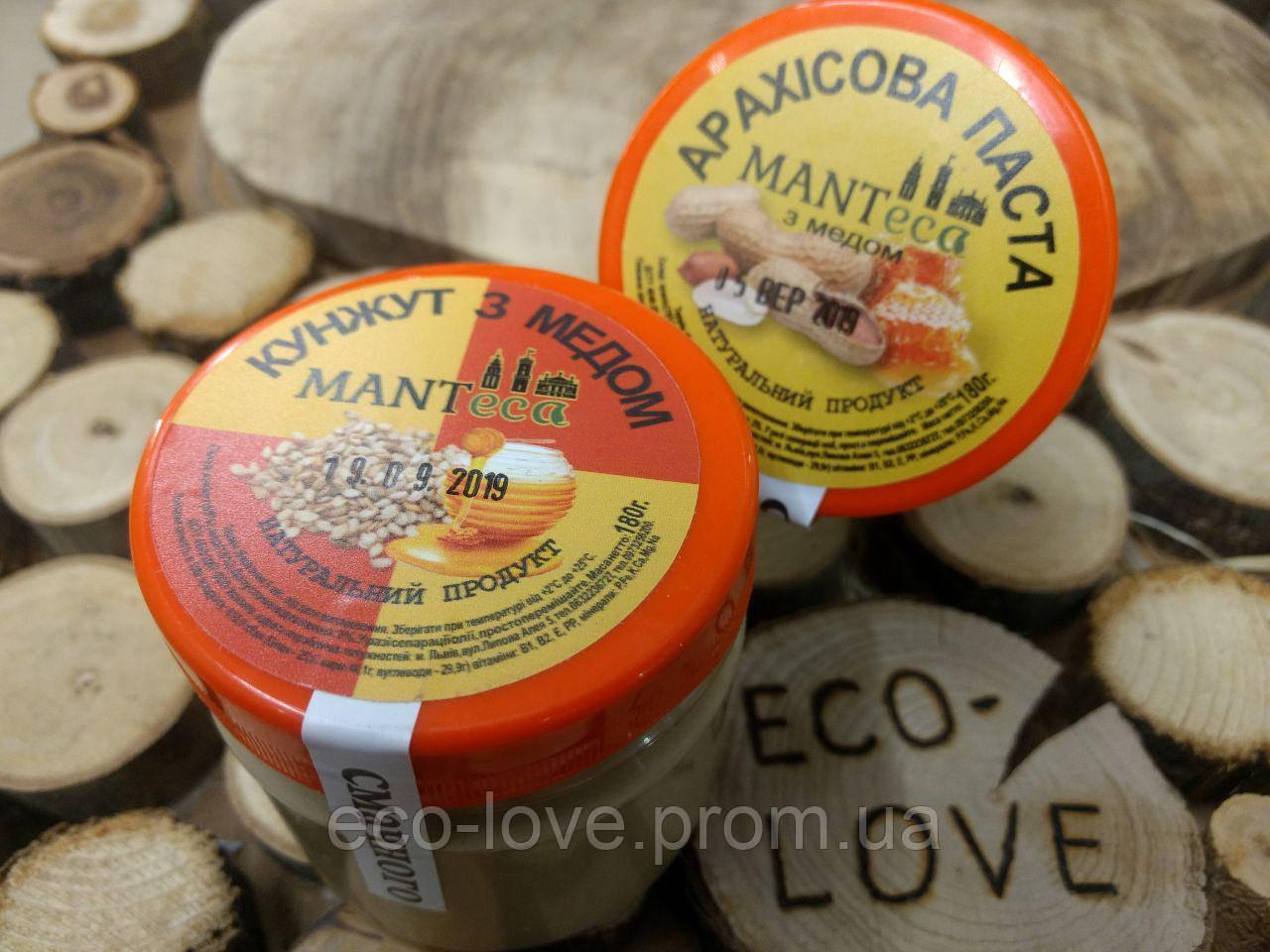 Арахісова паста з медом, 180 гр ТМ MANTECA
