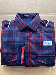 Теплая  рубашка флис Ovento classik  - S045