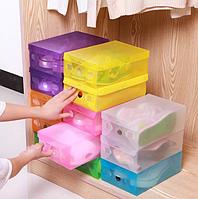 Коробки органайзер для хранения обуви разные цвета, фото 1