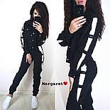 Женский стильный вельветовый костюм с лампасами (в расцветках), фото 2