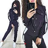 Женский стильный вельветовый костюм с лампасами (в расцветках), фото 5