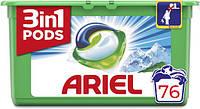 Капсулы для стирки белого Ariel Mountain Spring Pods 3 в 1 76 капс.