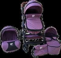 Коляска GT Baby 3в1 2801 Black/Purple