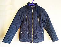 Куртка детская демисезонная стеганая синяя Zara Girls (размер 152)