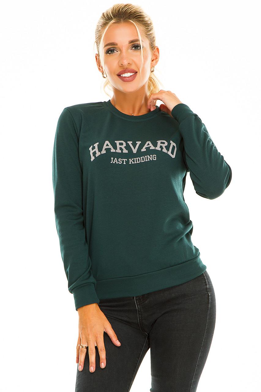 Свитшот HARVARD темно-зеленый