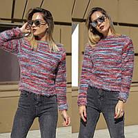 Женский свитер травка принт