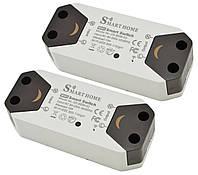 Розумний бездротовий вмикач RIAS Smart Home SS-8839-02 Wi-Fi 220V 10A/2200W White (2 шт) (3_4485)