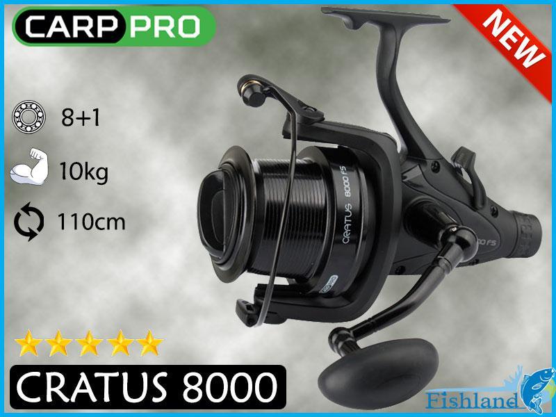 Катушка Карповая Carp Pro Cratus 8000 FS с бейтраннером