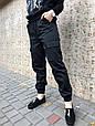 Брюки карго женские с карманами  (черные), фото 2